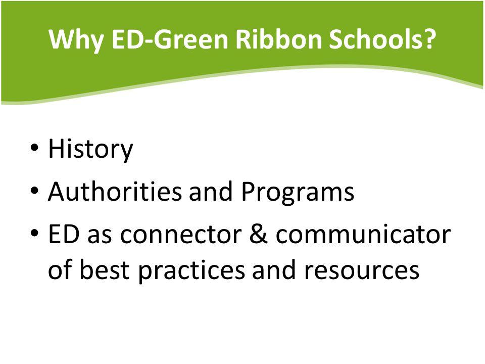 Why ED-Green Ribbon Schools.