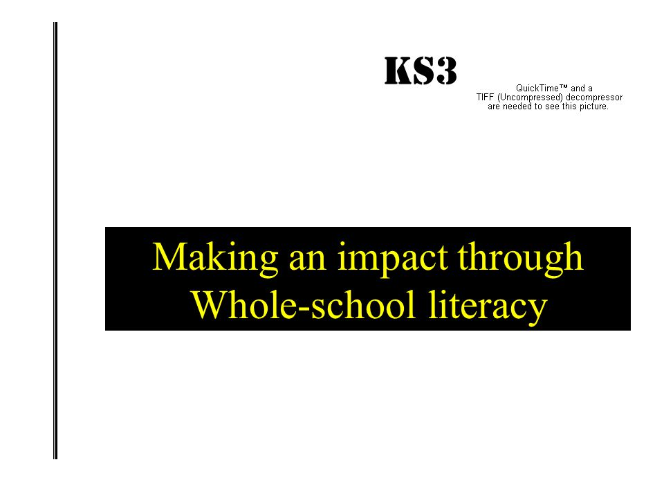KS3 IMPACT! What have been the successes in your own school? What do you need to do next?  Talking Point 