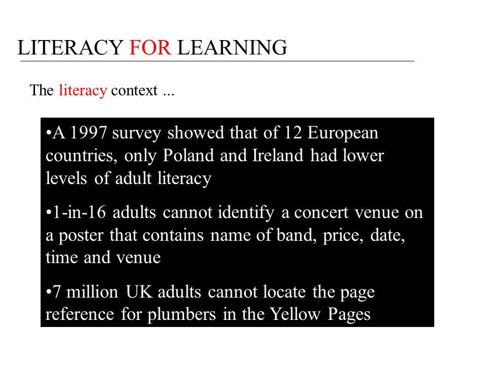 Why cross- curricular literacy?