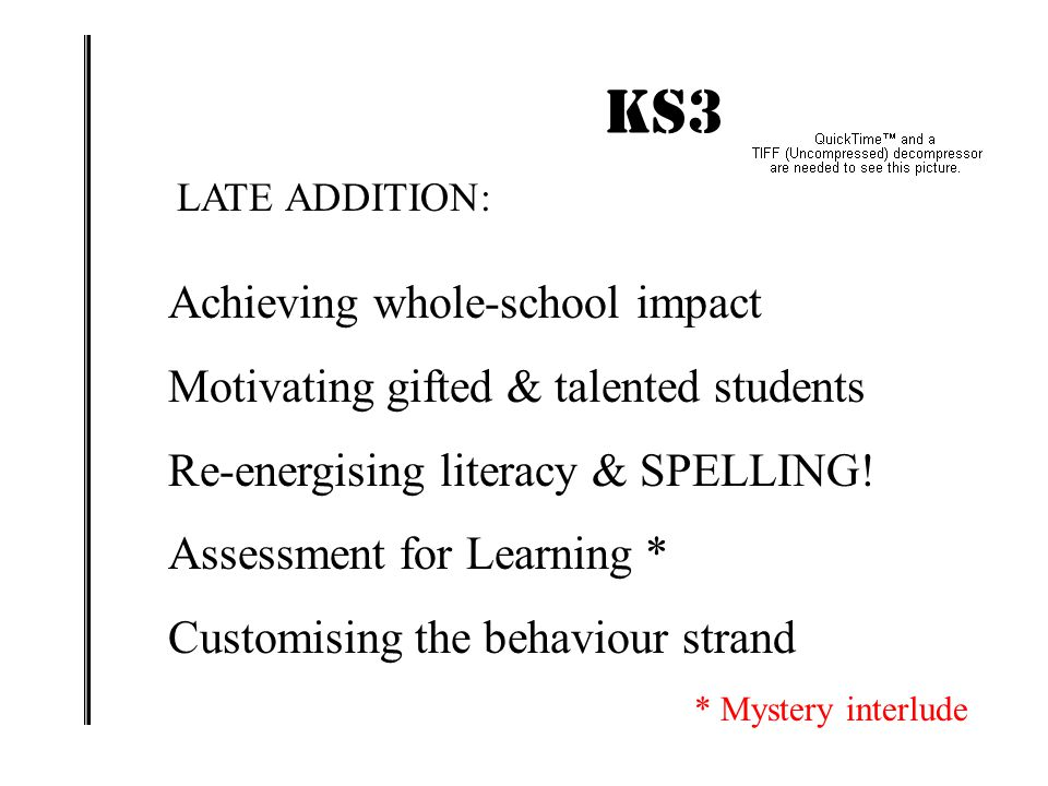 KS3 IMPACT! ENERGISING THE STRATEGY : PROMOTING A WHOLE-SCHOOL IMPACT Geoff BartonMarch 26, 2015