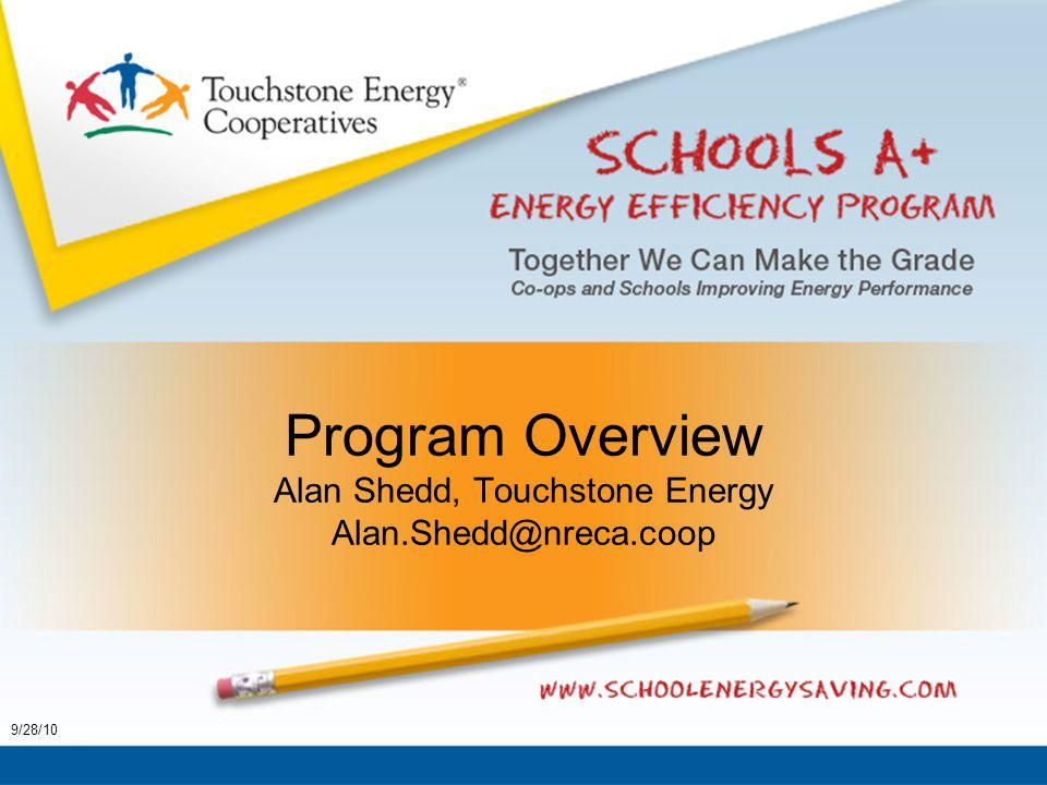 Program Overview Alan Shedd, Touchstone Energy Alan.Shedd@nreca.coop 9/28/10