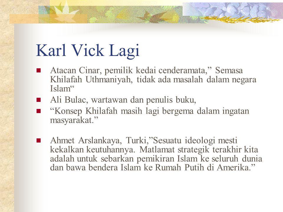 """Karl Vick Lagi Atacan Cinar, pemilik kedai cenderamata,"""" Semasa Khilafah Uthmaniyah, tidak ada masalah dalam negara Islam"""" Ali Bulac, wartawan dan pen"""