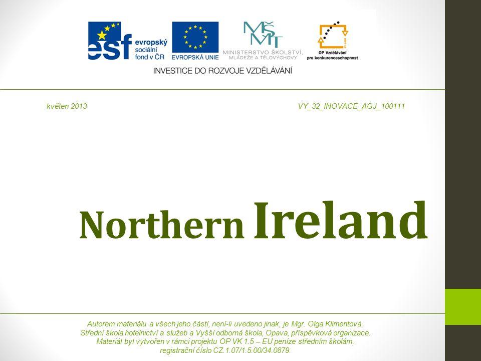Northern Ireland Autorem materiálu a všech jeho částí, není-li uvedeno jinak, je Mgr.