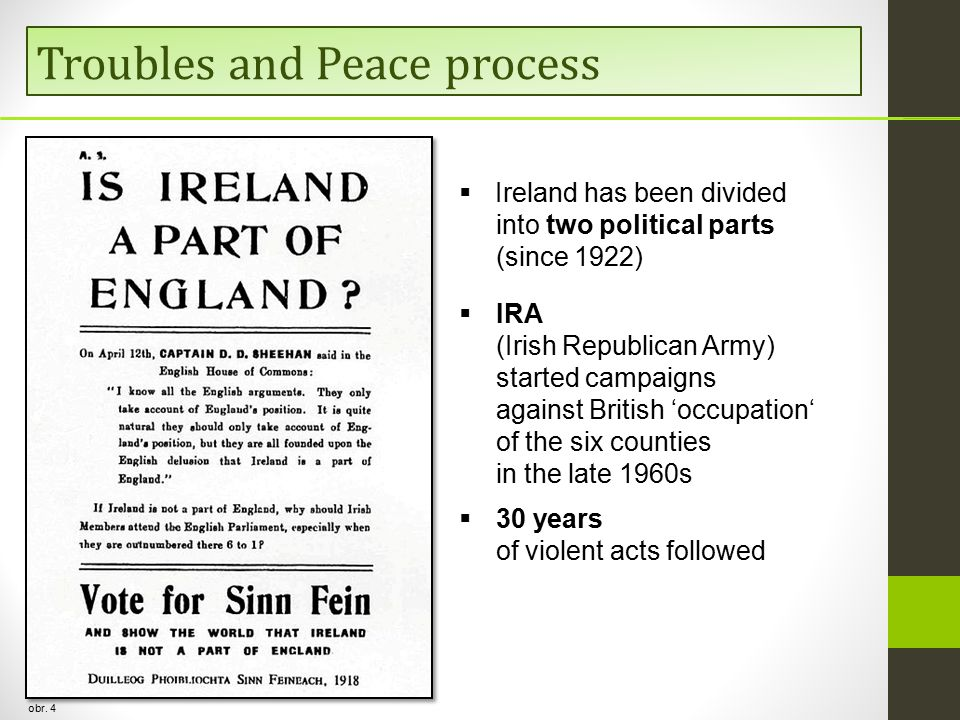 Troubles and Peace process obr.