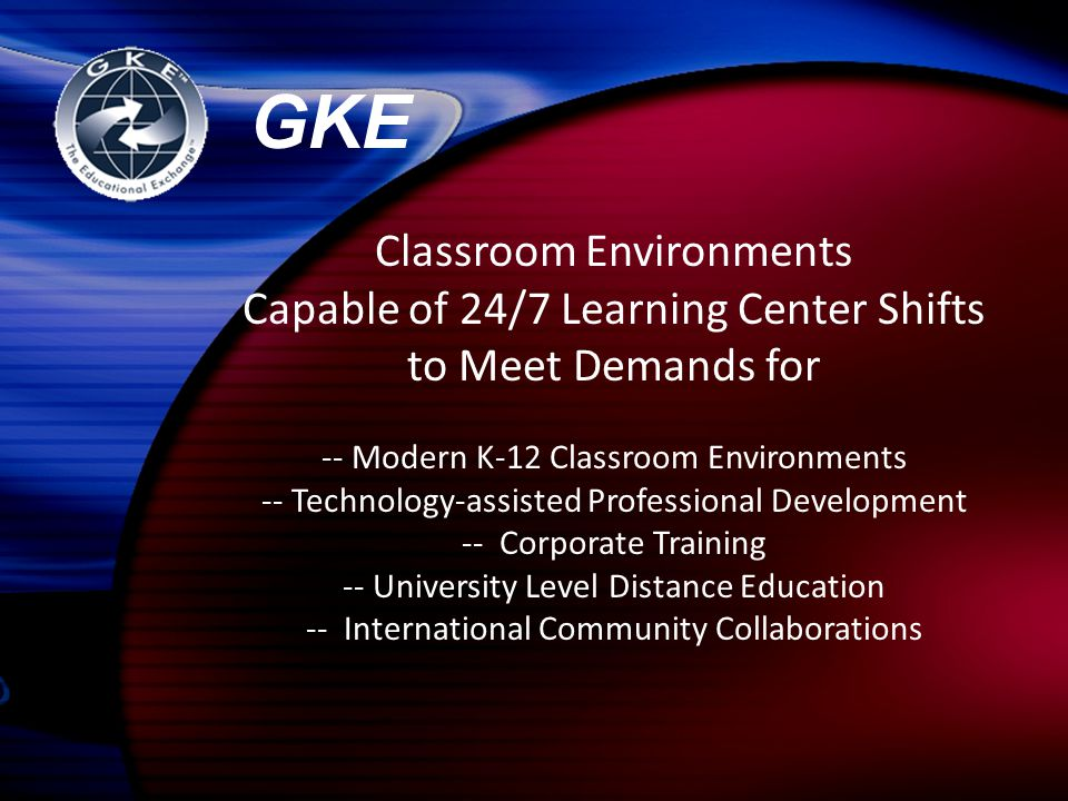 Classroom Environments Capable of 24/7 Learning Center Shifts to Meet Demands for -- Modern K-12 Classroom Environments -- Technology-assisted Profess