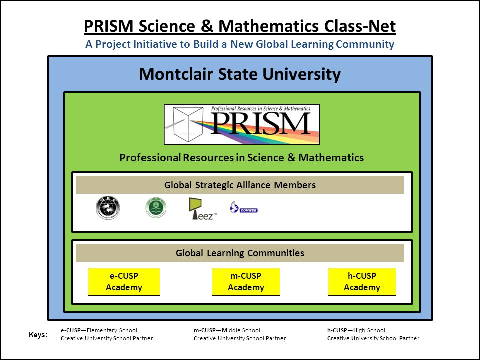 PRISM Science & Mathematics Class-Net A Project Initiative to Build a New Global Learning Community Montclair State University Professional Resources