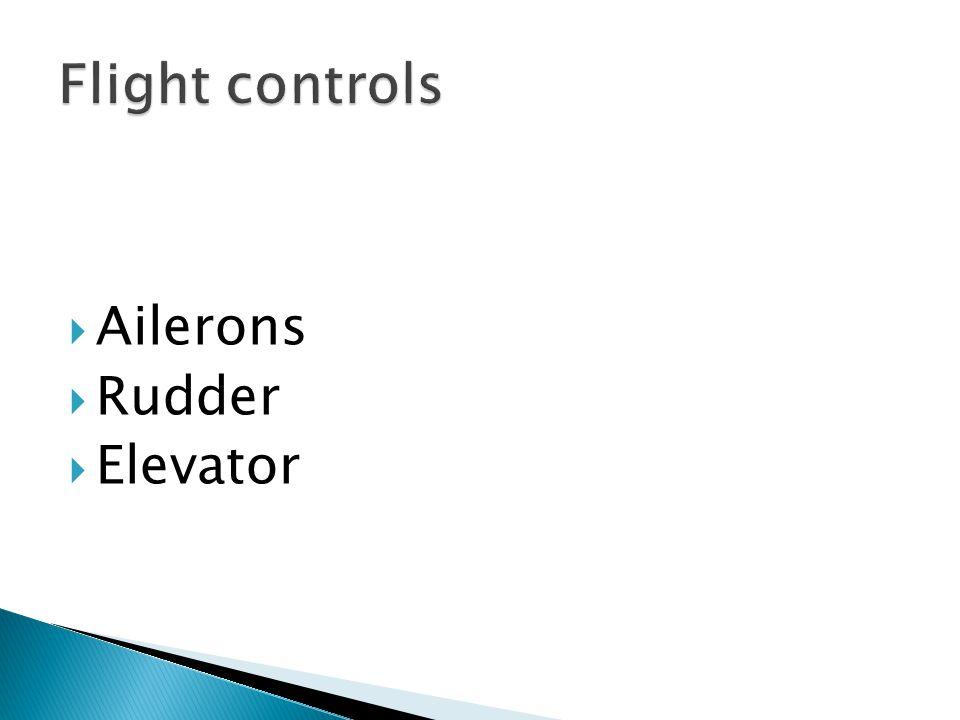  Ailerons  Rudder  Elevator