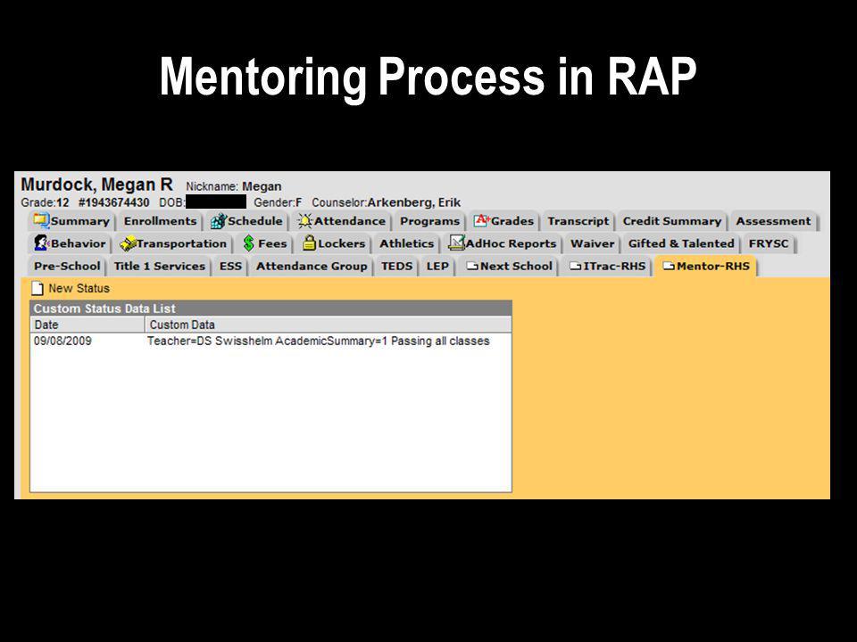 Mentoring Process in RAP