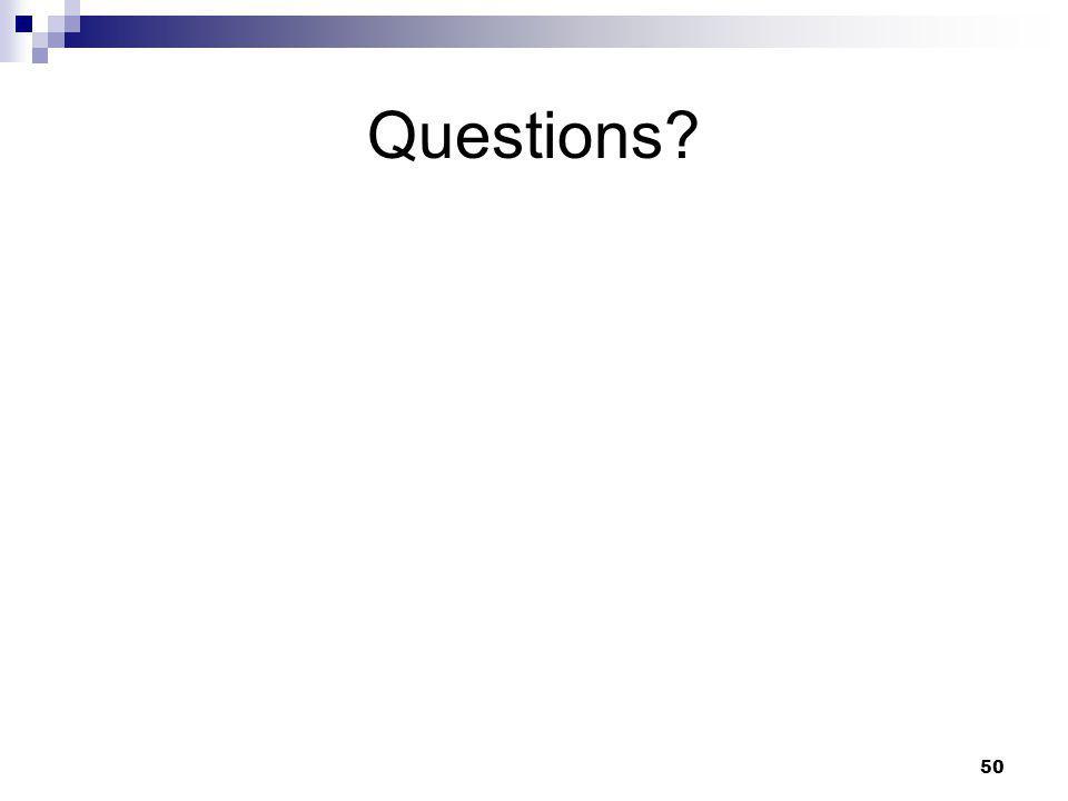 50 Questions?