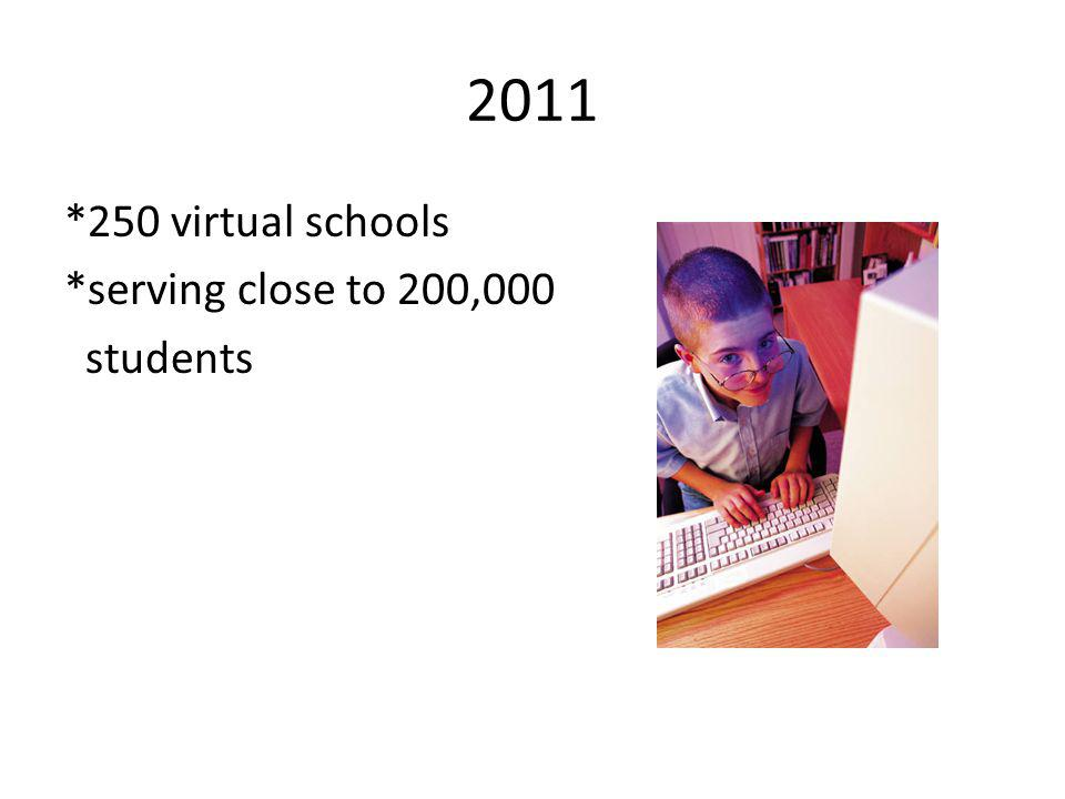 2011 *250 virtual schools *serving close to 200,000 students