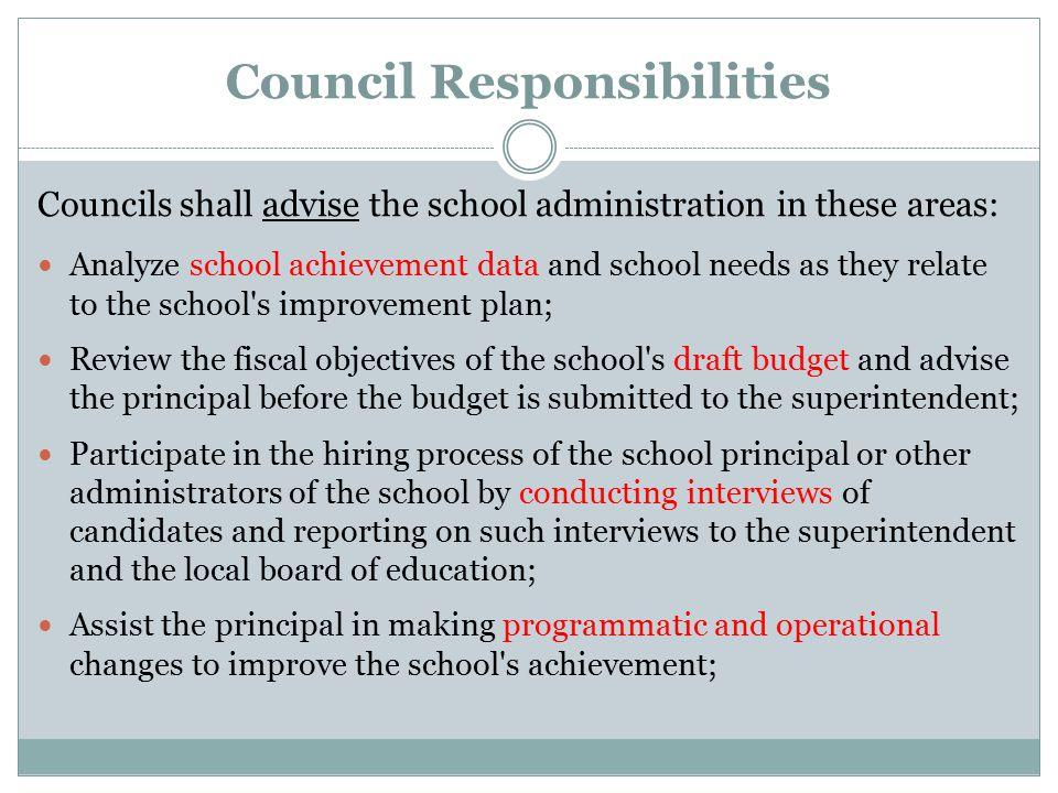 Council Responsibilities