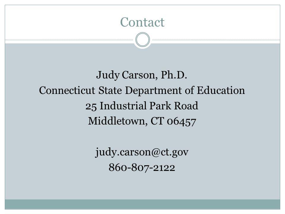 Contact Judy Carson, Ph.D.