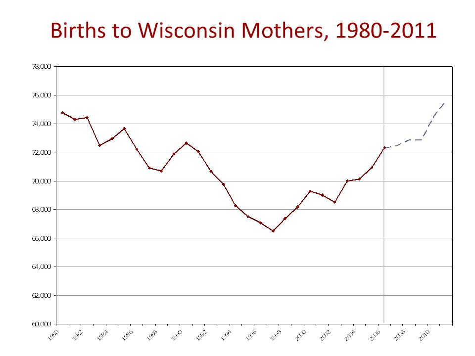 Births to Wisconsin Mothers, 1980-2011