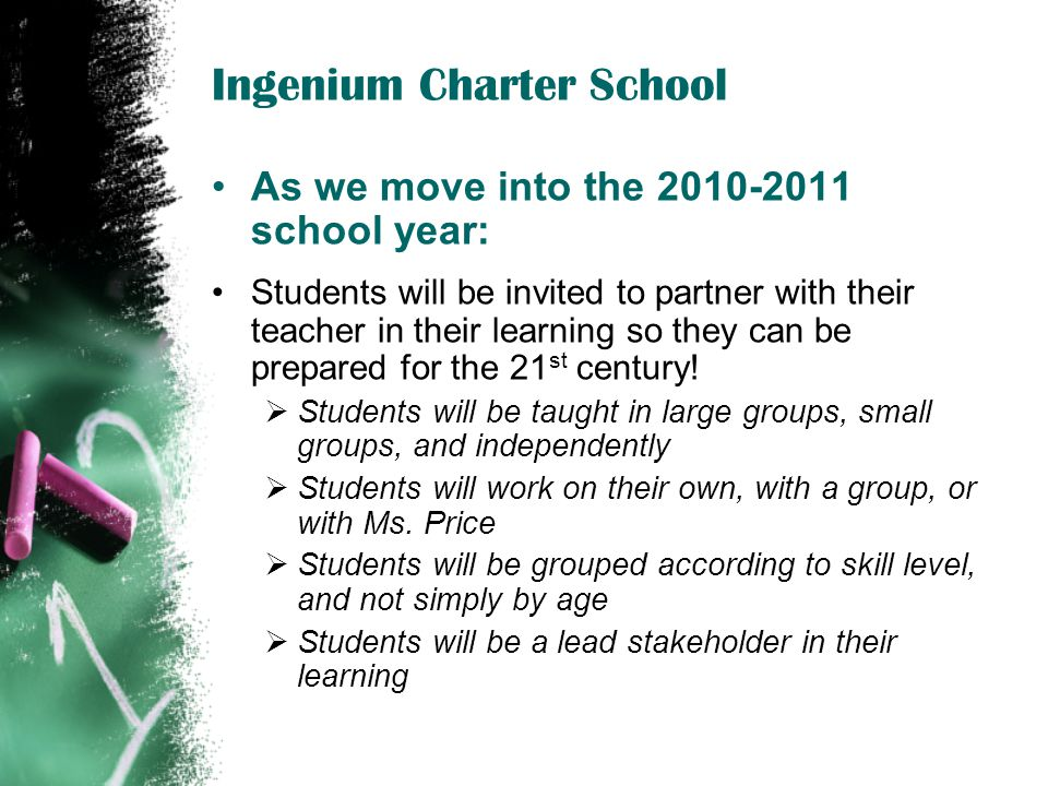 IngeniumCharter.org = our communication portal with families, students, & community