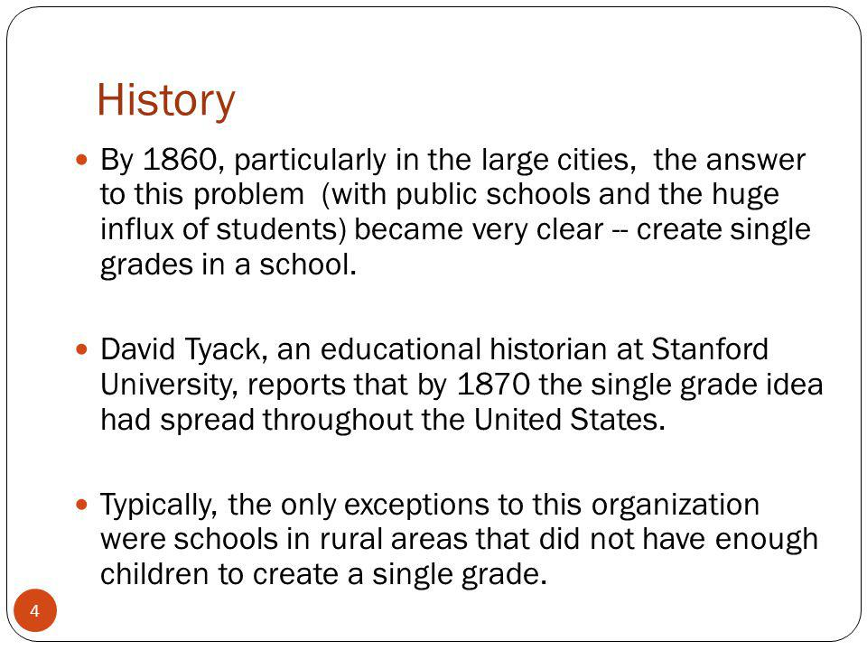 History Throughout the 1900s, as our country became more industrialized, many educational policy makers sought to continue the tradition of making schools efficient by applying concepts from the factory assembly line to public education.