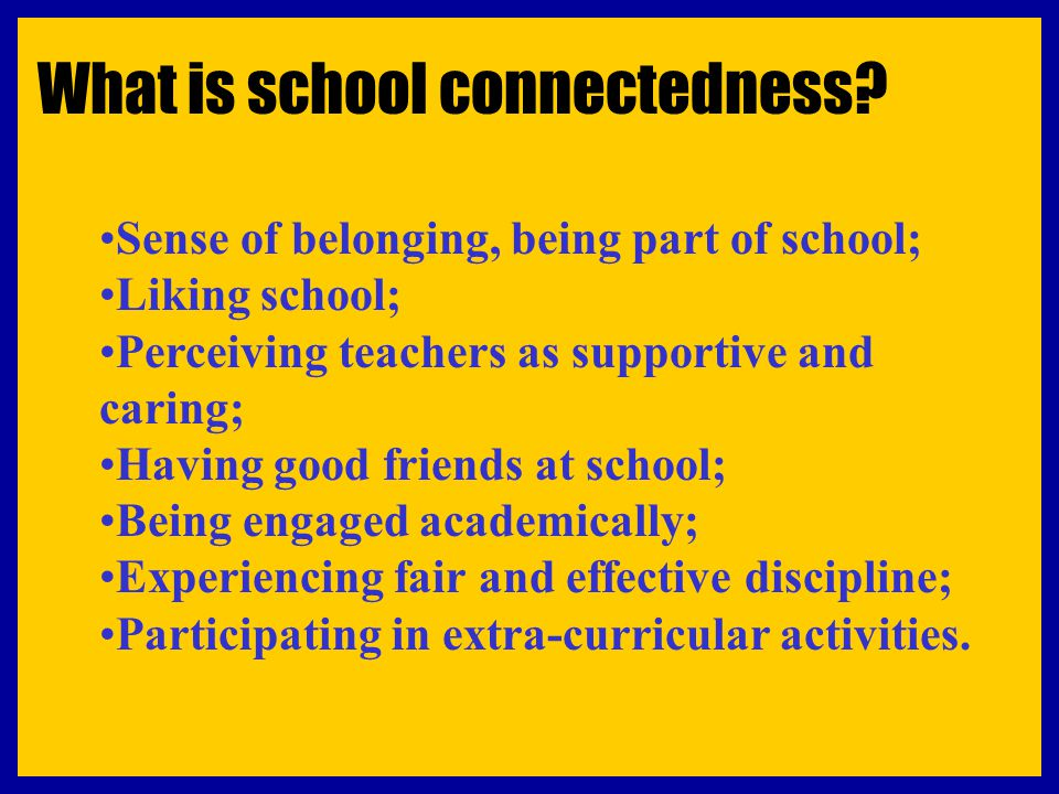The key elements of an effective school High Expectations coupled with High Supports