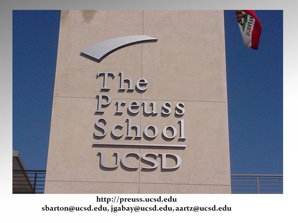http://preuss.ucsd.edu sbarton@ucsd.edu, jgabay@ucsd.edu, aartz@ucsd.edu