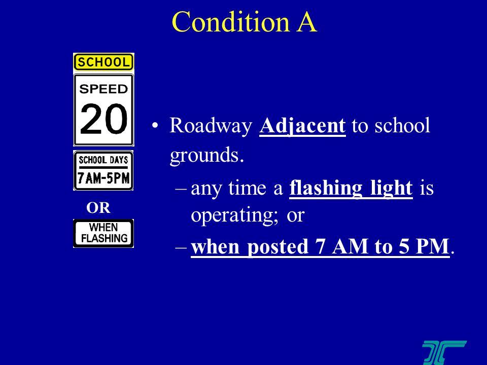 Roadway Adjacent to school grounds.