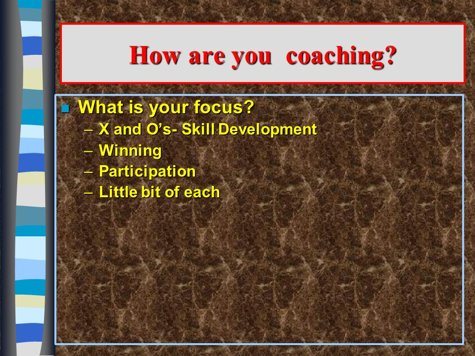 Middle School Programs Contrasted With High School Programs Implications for Coaches n Keep in mind the differences in physical strength and endurance