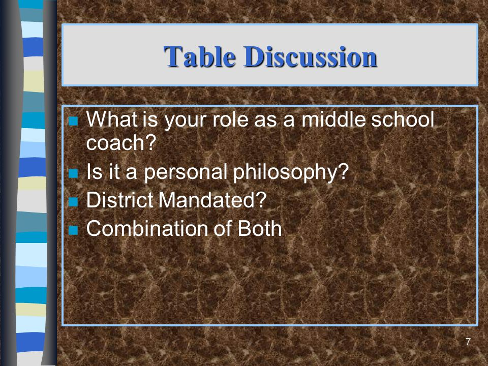 What Characteristics of Middle School Children Should Be Considered? Physical Development--11 to 15 years old n 5.Physical Development--11 to 15 years