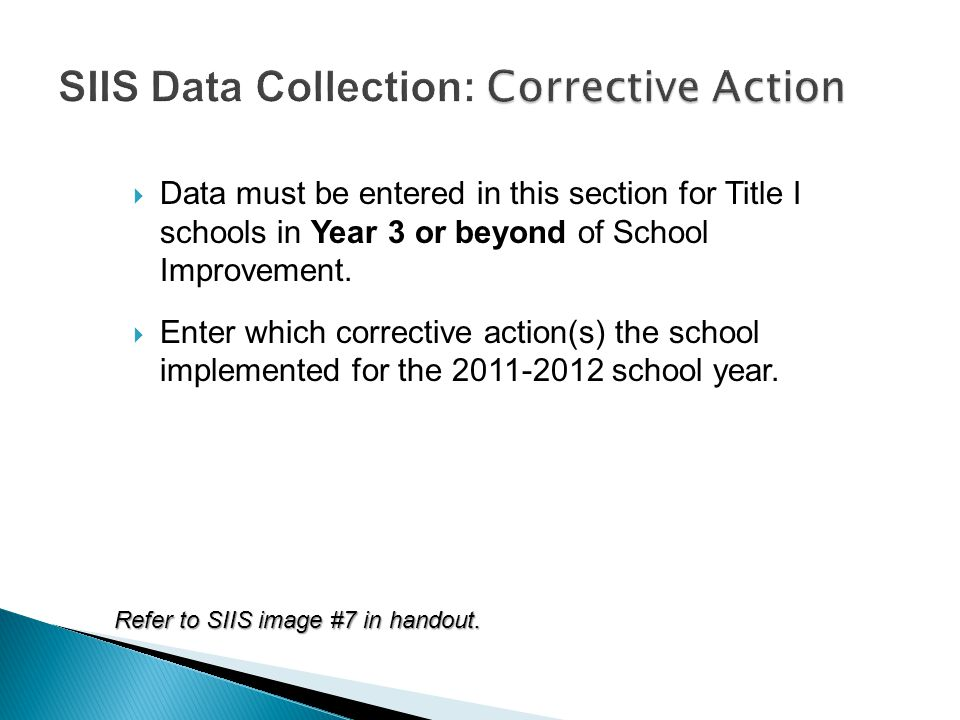  Data must be entered in this section for Title I schools in Year 3 or beyond of School Improvement.