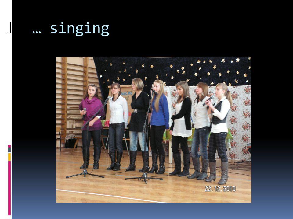 … singing