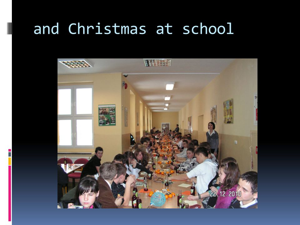 and Christmas at school