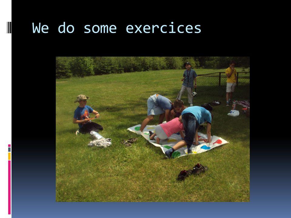 We do some exercices