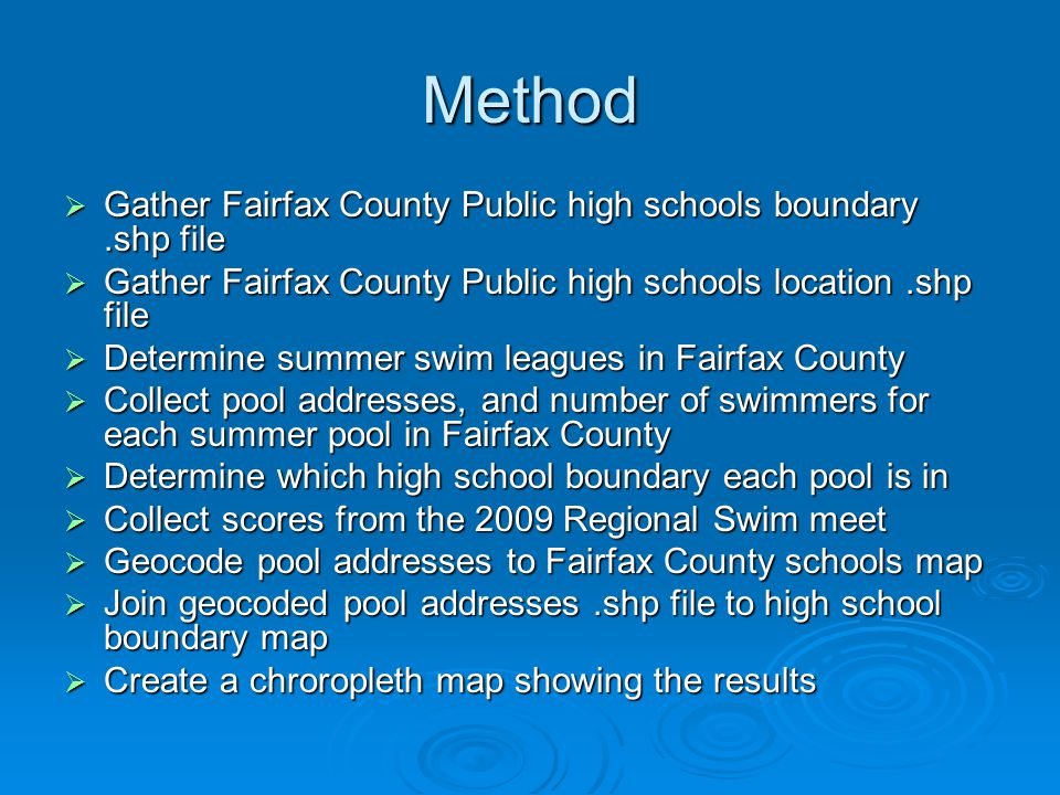 Conclusions - Results  Highest number of swimmers * McLean * Woodson * West Springfield  Lowest number of swimmers * Edison * Hayfield * Mount Vernon