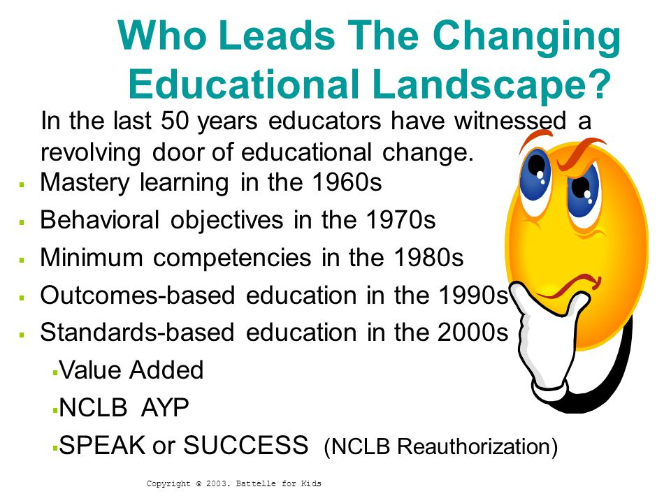 Who Leads The Changing Educational Landscape.