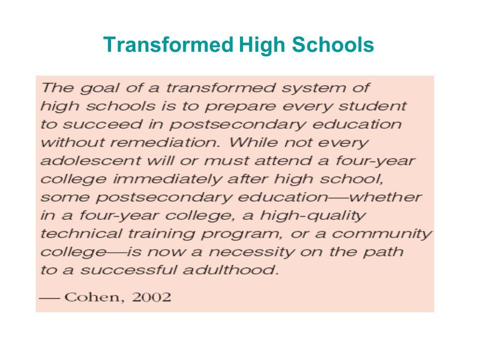 Transformed High Schools