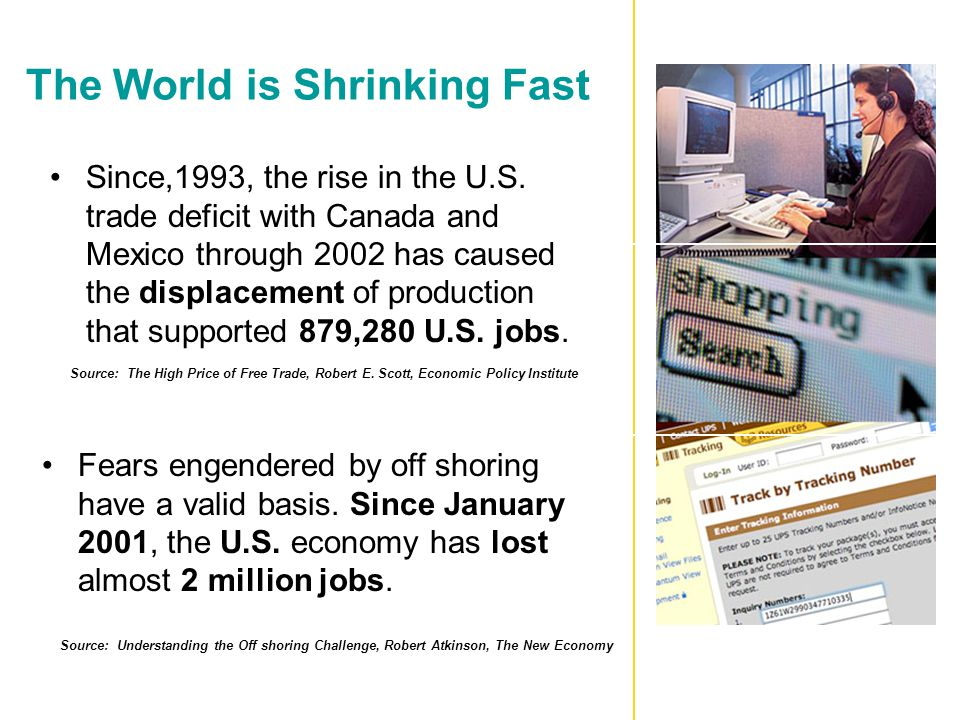 The World is Shrinking Fast Since,1993, the rise in the U.S.