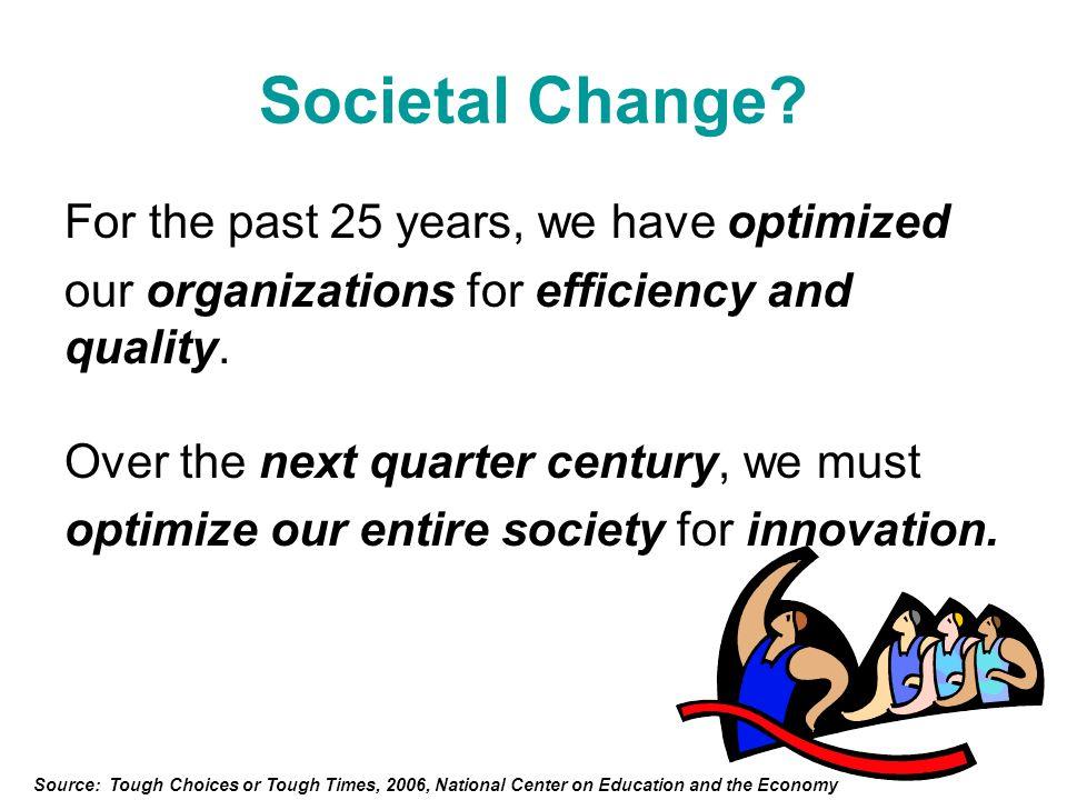 Societal Change.