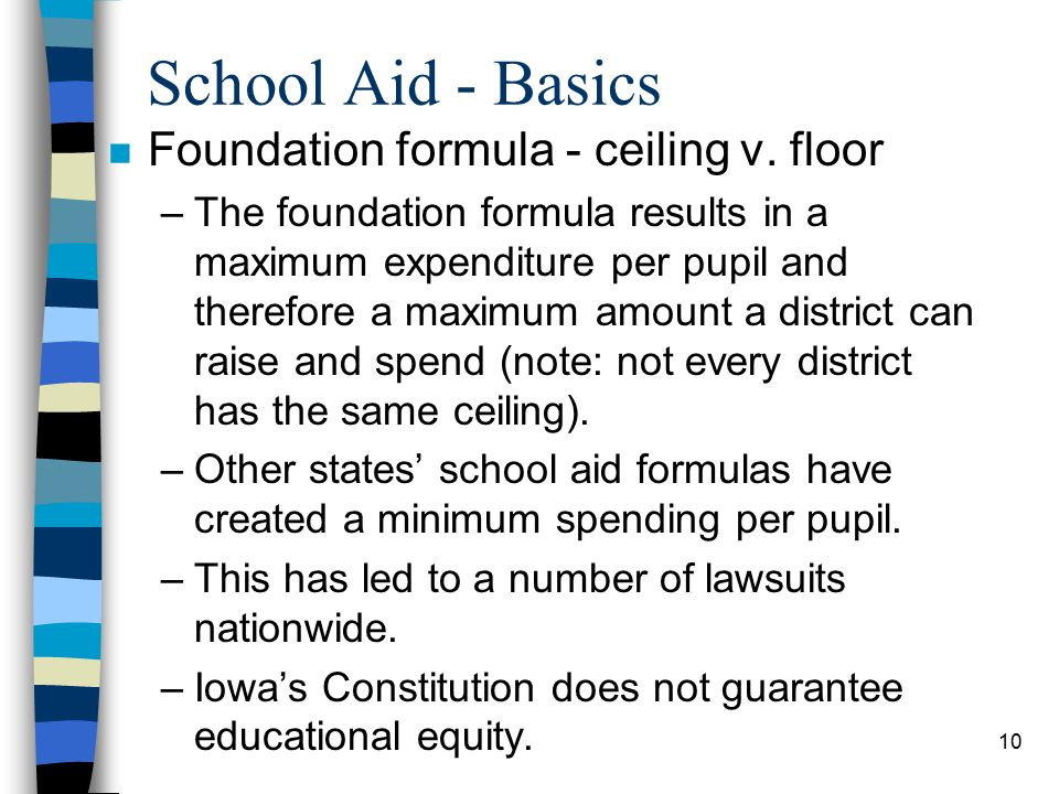 10 School Aid - Basics n Foundation formula - ceiling v.