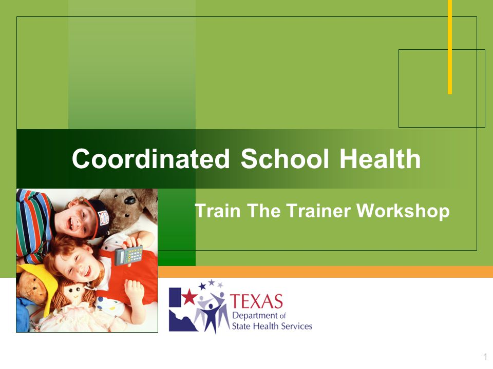 1 Coordinated School Health Train The Trainer Workshop