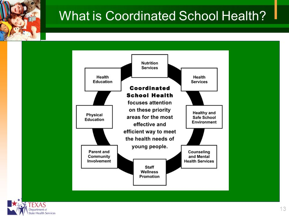 13 What is Coordinated School Health?