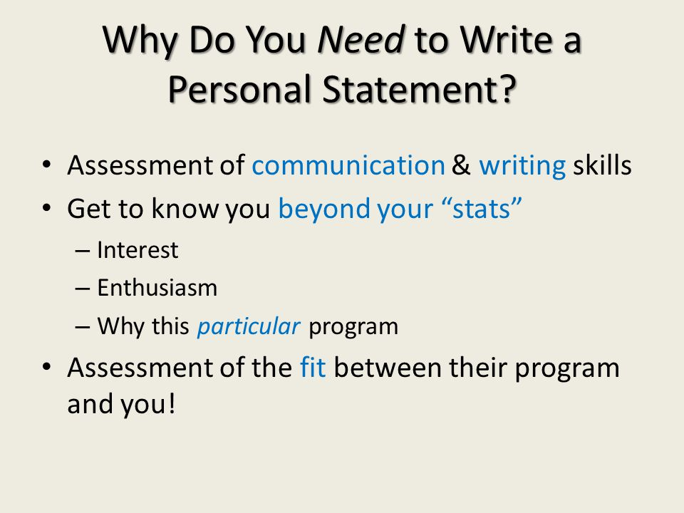 How Do You Write an Impressive Personal Statement.