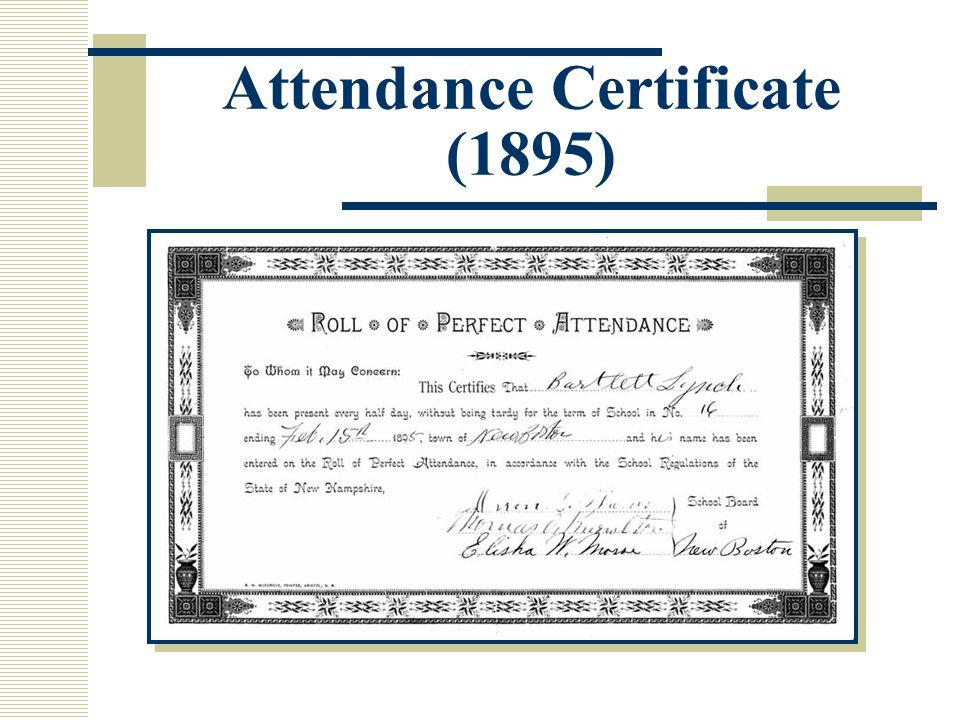 Attendance Certificate (1895)