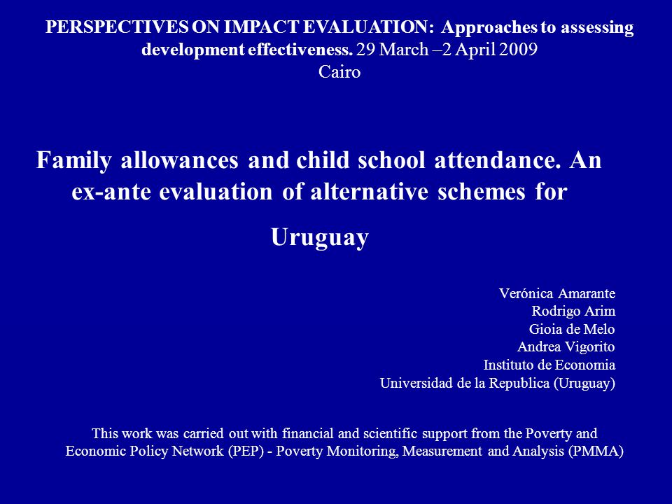 Family allowances and child school attendance.