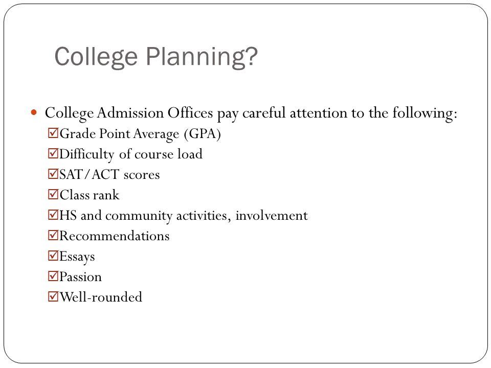 College Planning.