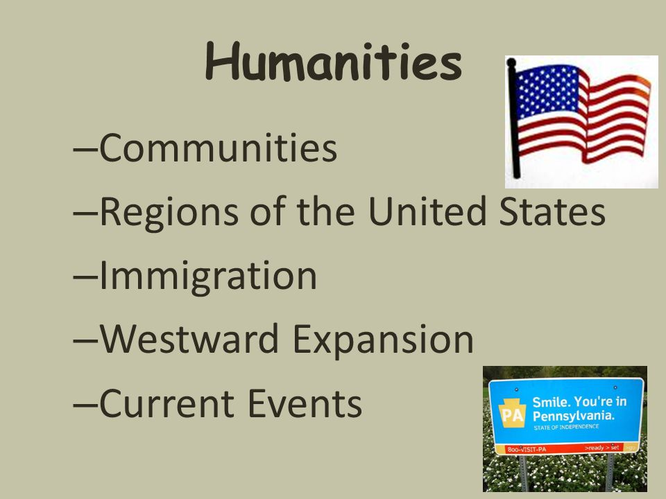 Humanities – Communities – Regions of the United States – Immigration – Westward Expansion – Current Events