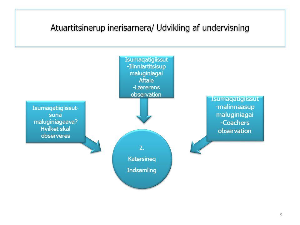 Atuartitsinerup inerisarnera/ Udvikling af undervisning 2. Katersineq Indsamling 2. Katersineq Indsamling Isumaqatigiissut -Ilinniartitsisup maluginia