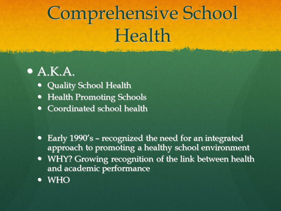 Comprehensive School Health A.K.A. A.K.A.