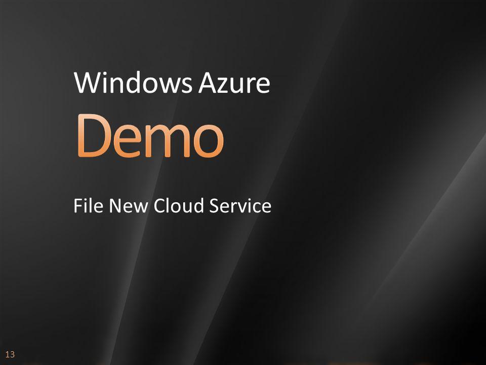 13 Windows Azure File New Cloud Service
