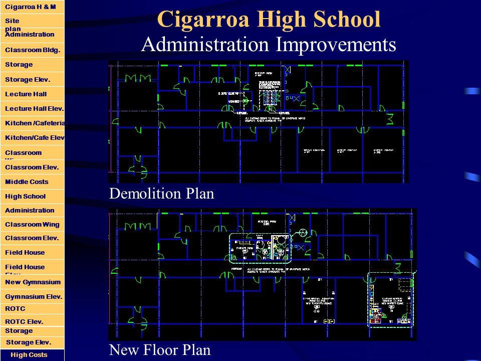 Cigarroa High School Administration Improvements New Floor Plan Demolition Plan Administration Classroom Bldg.