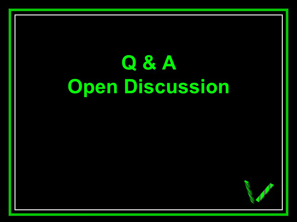 JAW Q & A Open Discussion