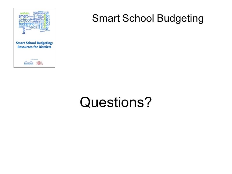Smart School Budgeting Questions