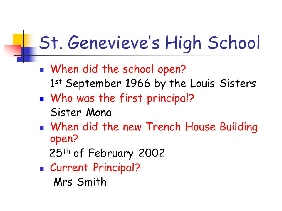 St. Genevieve's High School Releasing Potential Together