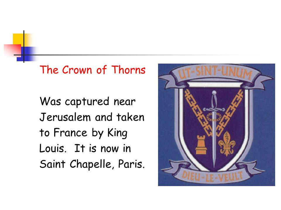 School Badge - Symbols The Sword Represents King Louis fighting.