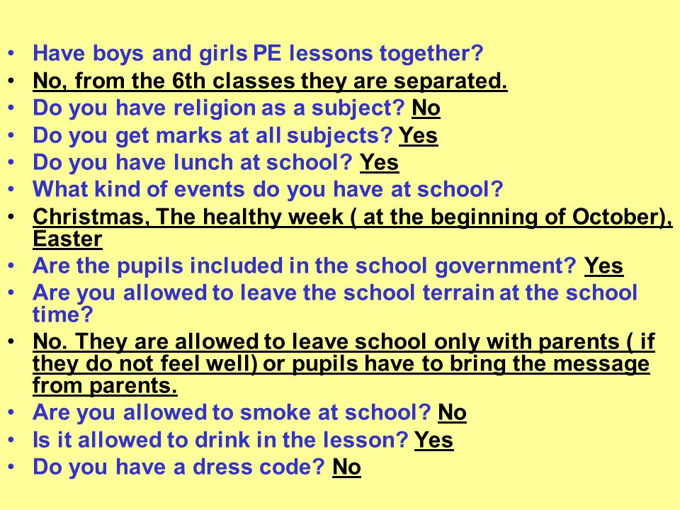 These were the results of investigations in our school Thank you for your attention
